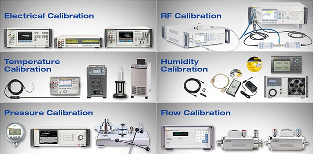 Calibrators and Reference Standards in the Disciplines of Electrical, Temperature, Pressure, RF, Humidity, and Flow Calibration