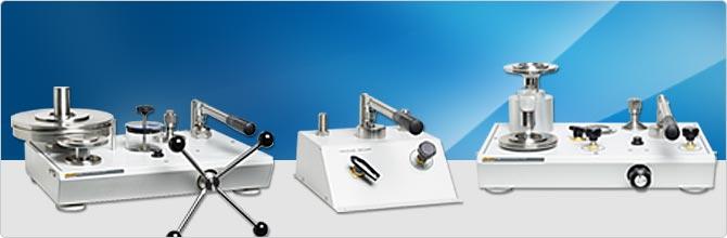 Pressurements 분동식 압력계 및 비교 테스트 펌프 교정