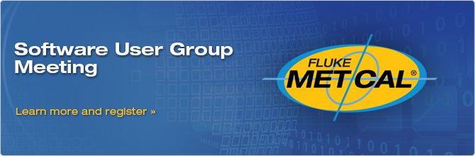 Fluke Calibration Software User Group Meetings